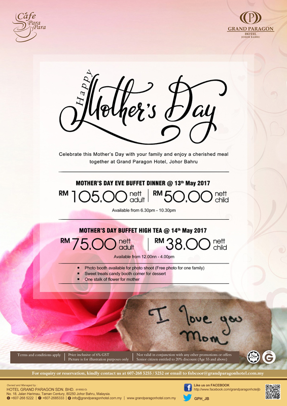 Mothers Day Cafe Para Promo